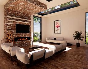 interior living room revit 3D