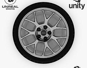 3D asset Wheel Steel-Chrome Alloy Rim Audi 5