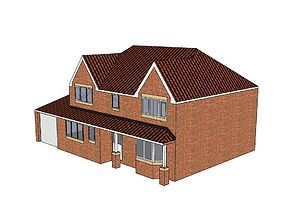 Detached English style house 3D