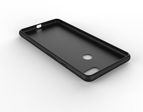 Google Pixel 3xl black case customizable design 3D model