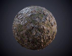 Ground Rocks Grass Water Moss Seamless PBR Texture 3D