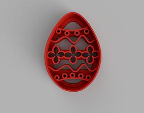 3D print model Easter egg cookie cutter