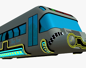3D model game-ready fi Hover bus