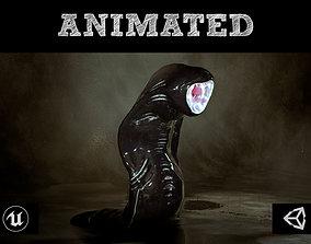 3D asset Fanged Leech