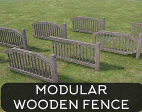 3D model Modular Wooden Fence
