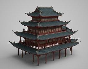 Ancient buildings large pavilions and palaces 3D asset