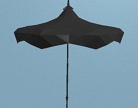 3D model Low Poly Gothic Pagoda Umbrella