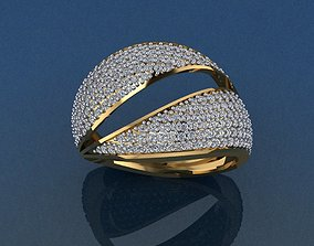 engagem Gold Ring 3D print model 3D print model