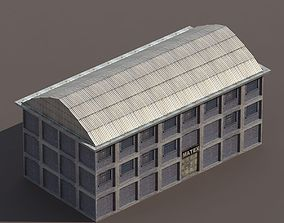 VR / AR ready Factory Low poly Modular 3d Model