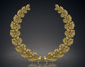3D print model Wreath of oak leaves
