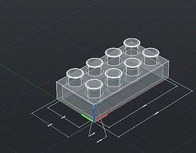 3D printable model Print Block 2 by 4