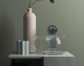 Opium Vases and Glass Teapot 3D model