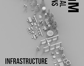 Infrastructure and Objectives Mega Pack 3D printable model