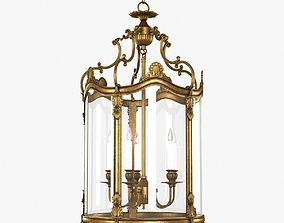 3D model Empire Lantern in French gold finish