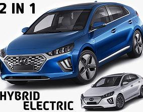 3D model car Hyundai Ioniq Hybrid and Electric 2020
