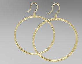 3D print model Earrings Hoop with rhombuses