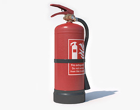 hose 3D PBR Fire Extinguisher