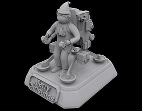 Santa Astronaut 3D printable model