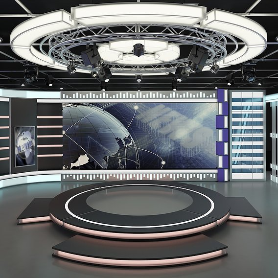Virtual Studio Set 7 - 3d Model