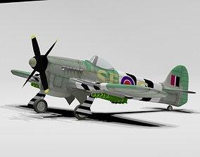 hawker typhoon airplane 3D