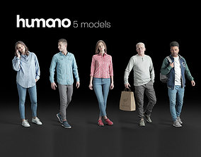 Humano 5-Pack - CASUAL - STREET - PEOPLE - 5x 3D 1