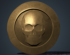 3D Stylized pirate coin sculpture