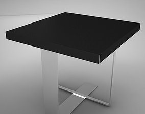 3D model game-ready coffe table square 2