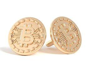 3D printable model Cufflinks bitcoin cufflinks