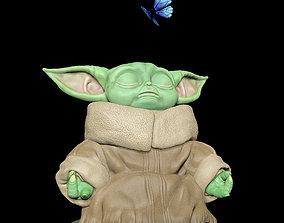 3D print model Baby Yoda Meditation - Grogu The Child - 2