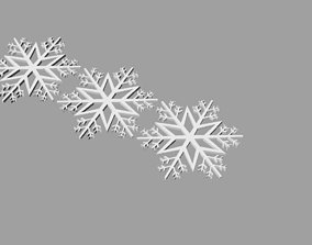 3D print model Three snowflake ornaments