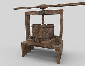 Medieval Wine Press 3D model