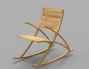 Wishbone Rocking Chair 3D model