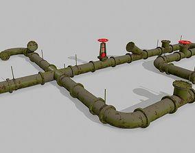 pipe set 3D model VR / AR ready