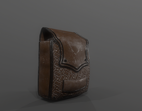3D asset rigged game-ready Backpack
