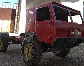 3D Print Scale Crawler 1 10 Truck militar truck