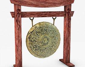 Ancient gong 3D model