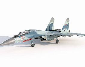 3D PBR Sukhoi Su-35 Flanker-E