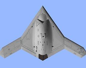 3D model US NAVY Northrop Grumman X-47B Pegasus attack