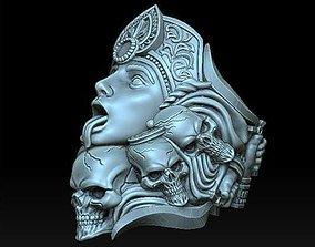 3D print model Guardia kali ring skull ring nature ring