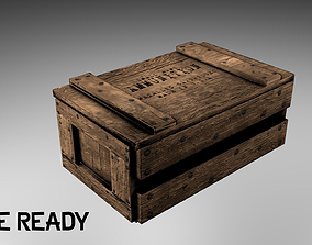 3D model Wooden Ammo Crate -- Game-Ready