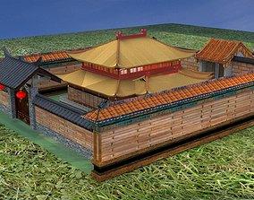 Chinese ancient house oriental 3D