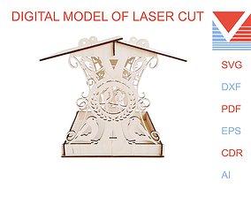 3D printable model Bird feeder digital files of laser cut