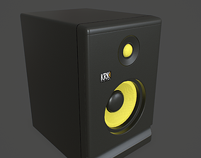 Powered Studio Monitor 3D model