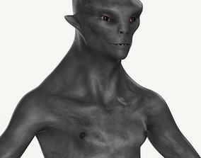3D model Realistic Male Alien 02