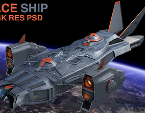 game-ready space ship 3D model