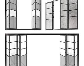 aluminium Sliding doors 3D