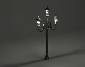 3D model Lamp post old