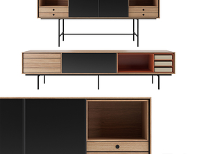 Aura Sideboard with adjustable front panel by Treku 3D