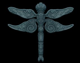 ornate dragon fly 3D printable model