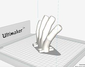 3D print model hand coat hanger receiver